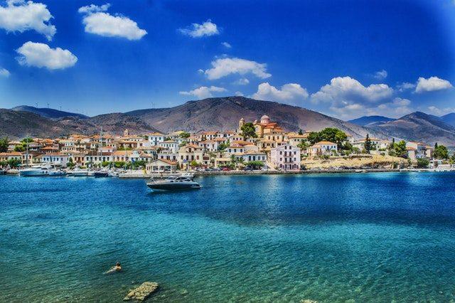 地中海沿岸の風景画像
